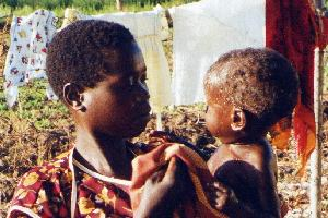 (Photograph of mother and baby in Soroti)