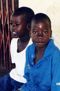 (Photograph of two boys in Soroti)
